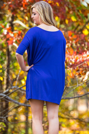 Half Sleeve Piko Tunic - Violet - Piko Clothing