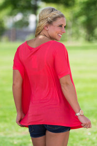 Short Sleeve Piko Top - Watermelon - Piko Clothing - 2
