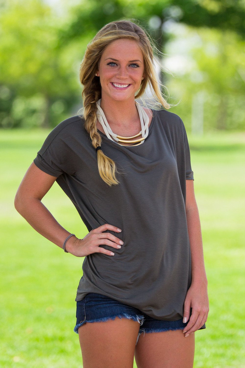 Short Sleeve Piko Top - Army - Piko Clothing - 1
