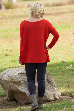 Long Sleeve Piko Top - Dark Spice - Piko Clothing
