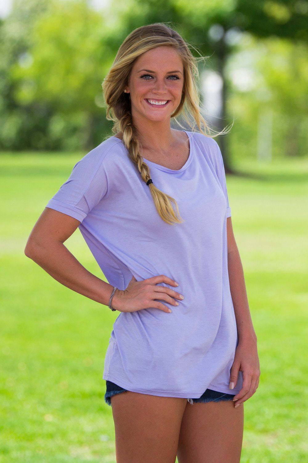 Short Sleeve Piko Top - Lilac - Piko Clothing - 1