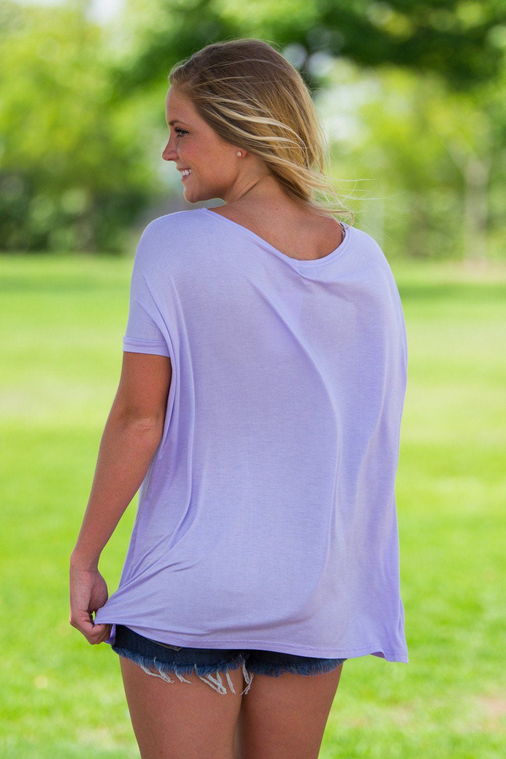 Short Sleeve Piko Top - Lilac - Piko Clothing