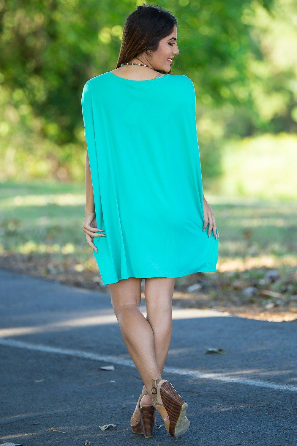 Short Sleeve Piko Tunic - Light Green - Piko Clothing - 2