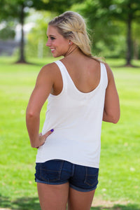 Piko Tank Top - Off White - Piko Clothing