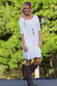 Half Sleeve Piko Tunic - Off White - Piko Clothing