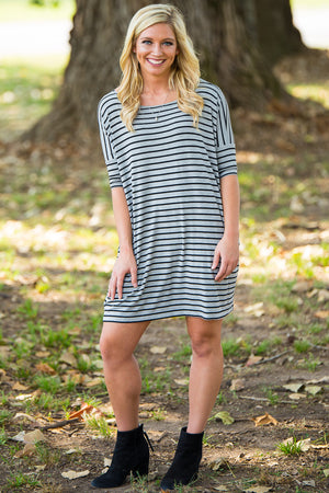 Half Sleeve Piko Tunic - Heather/Black - Piko Clothing
