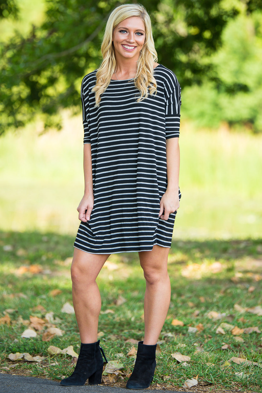 Half Sleeve Piko Tunic - Black/Heather - Piko Clothing