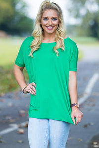 Short Sleeve Piko Top - Kelly Green