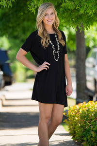 Short Sleeve Piko Tunic - Black - Piko Clothing - 1