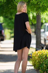 Short Sleeve Piko Tunic - Black - Piko Clothing - 2