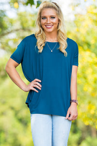 Short Sleeve Piko Top - Majolica