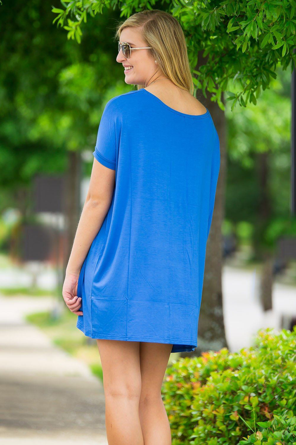 Short Sleeve Piko Tunic - Royal - Piko Clothing - 2