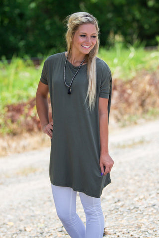 Short Sleeve Piko Tunic - Army - Piko Clothing - 1