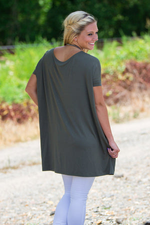 Short Sleeve Piko Tunic - Army - Piko Clothing - 2