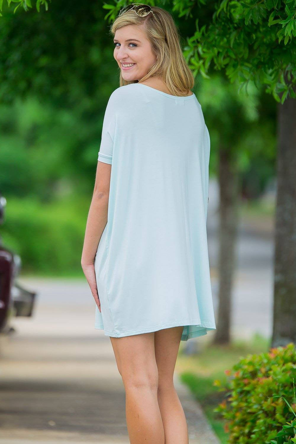 Short Sleeve Piko Tunic - Mint - Piko Clothing - 2