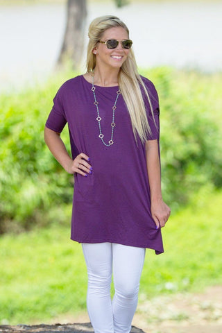 Half Sleeve Piko Tunic - Purple - Piko Clothing