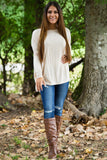 Long Sleeve Piko Top - Cream - Piko Clothing