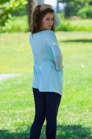 Long Sleeve Piko Tunic - Mint - Piko Clothing