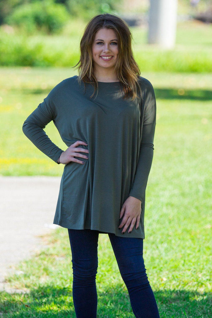 Long Sleeve Piko Tunic - Army - Piko Clothing