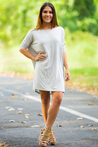 Half Sleeve Piko Tunic - Light Grey - Piko Clothing