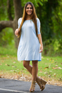 Half Sleeve Piko Tunic - Light Blue (FINAL SALE) - Piko Clothing