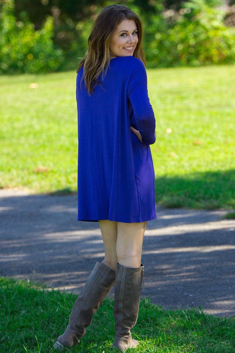 Long Sleeve Piko Tunic - Indigo - Piko Clothing