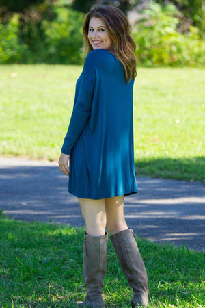 Long Sleeve Piko Tunic - Majolica Blue - Piko Clothing