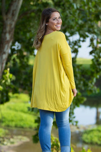 Long Sleeve Piko Tunic - Mustard - Piko Clothing