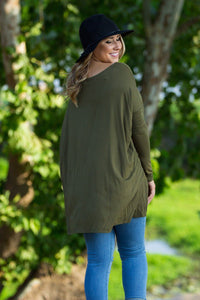 Long Sleeve Piko Tunic - Dark Olive - Piko Clothing