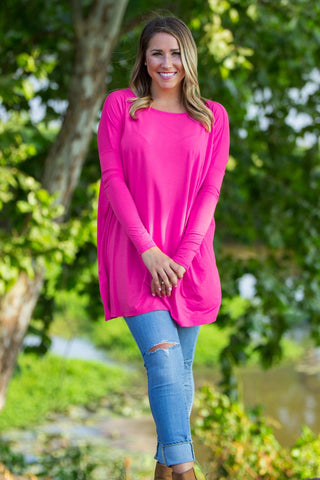 Long Sleeve Piko Tunic - French Rose - Piko Clothing