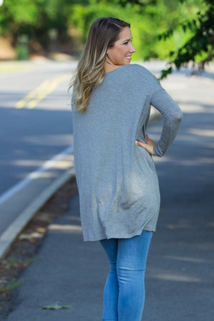 Long Sleeve Piko Tunic - Heather Grey - Piko Clothing