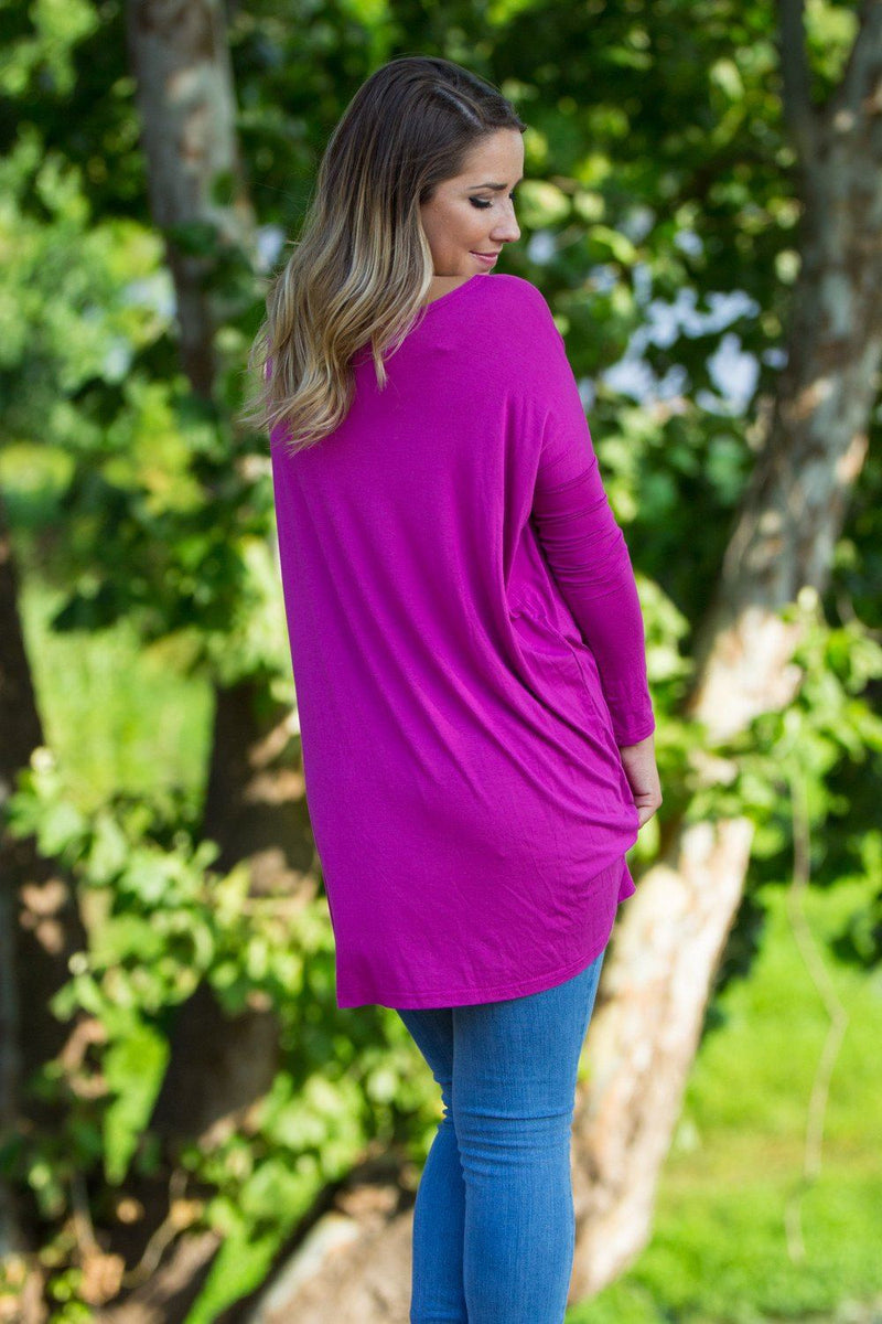 Long Sleeve Piko Tunic - Orchid - Piko Clothing