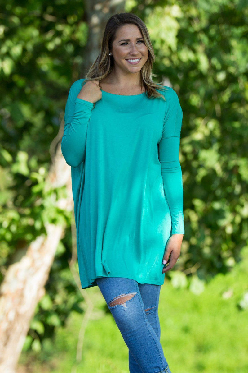 Long Sleeve Piko Tunic - Light Green - Piko Clothing