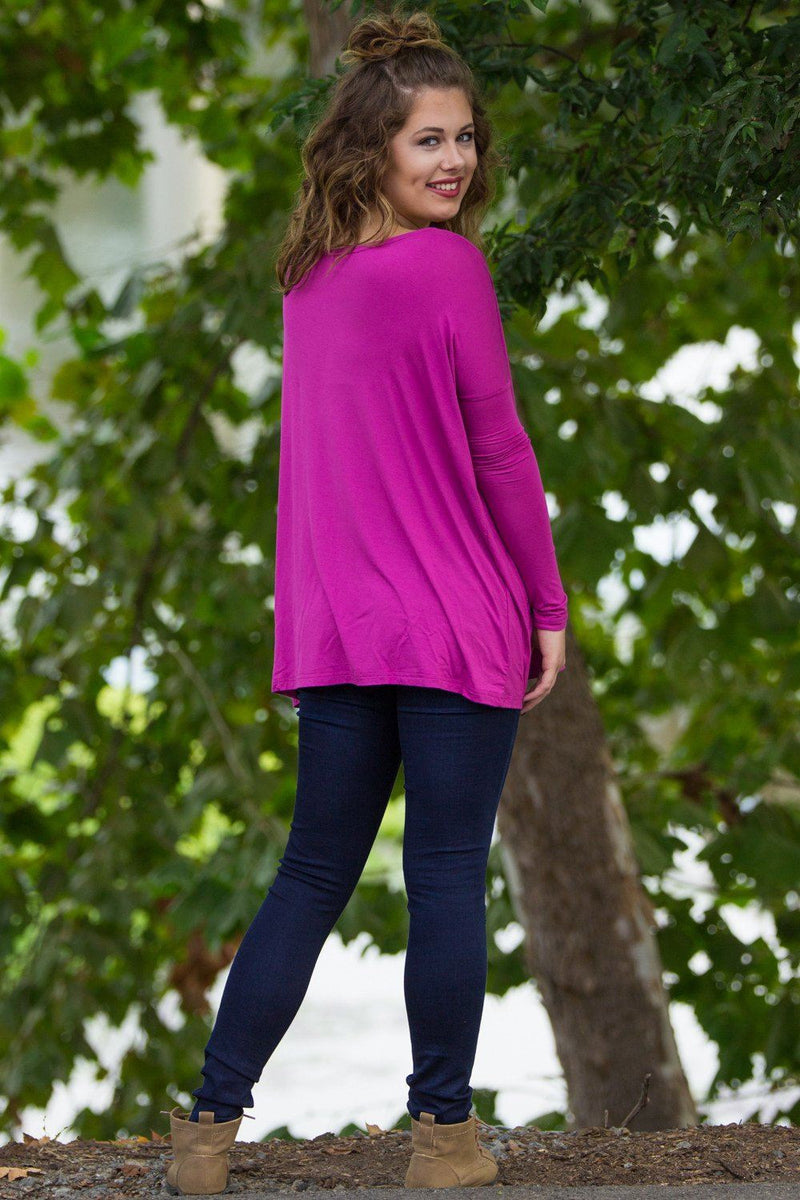 Long Sleeve Piko Top - Orchid - Piko Clothing