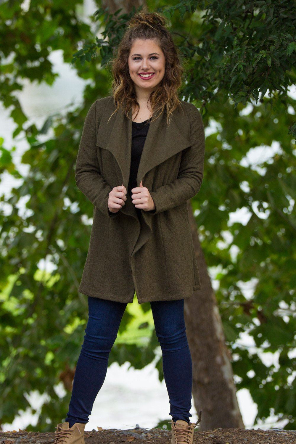 Long Sleeve Piko Jacket - Olive - Piko Clothing