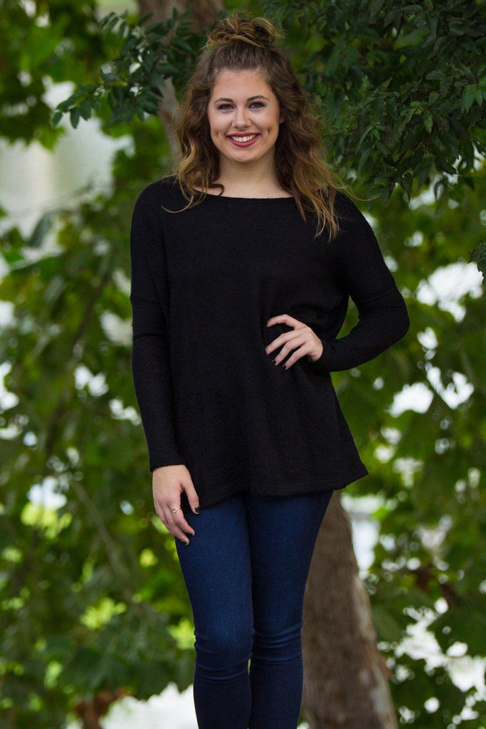 Long Sleeve Piko Sweater - Black - Piko Clothing