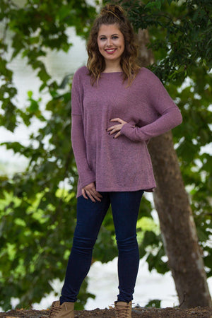 Long Sleeve Piko Sweater - Dusty Pink - Piko Clothing