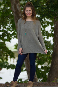 Long Sleeve Piko Sweater - Khaki - Piko Clothing