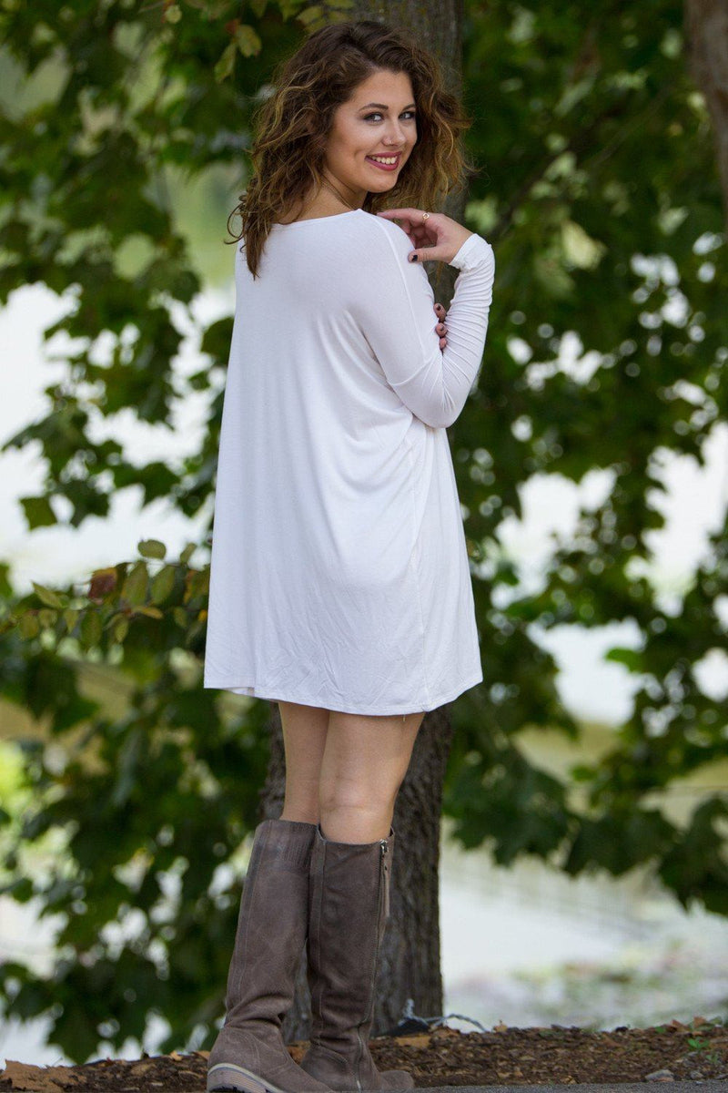 Long Sleeve Piko Tunic - Off White - Piko Clothing