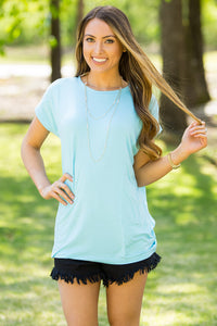 Short Sleeve Rolled Sleeve Piko Top - Limpet Shell - Piko Clothing