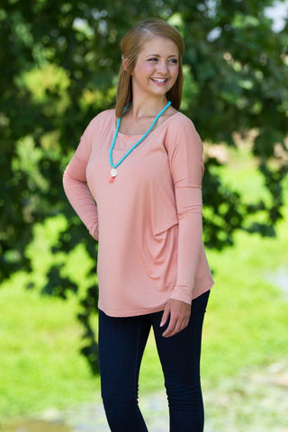 Long Sleeve Piko Top - Nude - Piko Clothing