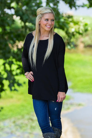 Long Sleeve Piko Top - Black - Piko Clothing