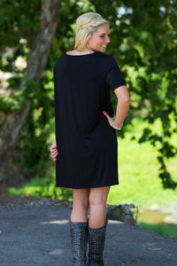 Short Sleeve Piko Dress - Black - Piko Clothing - 2