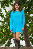 Long Sleeve Piko Tunic - Sky Blue - Piko Clothing