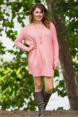 Long Sleeve Piko Tunic - Peach - Piko Clothing