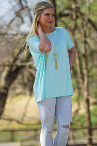 Short Sleeve Piko Top - Mint - Piko Clothing - 1