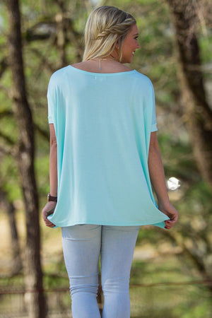 Short Sleeve Piko Top - Mint - Piko Clothing - 2