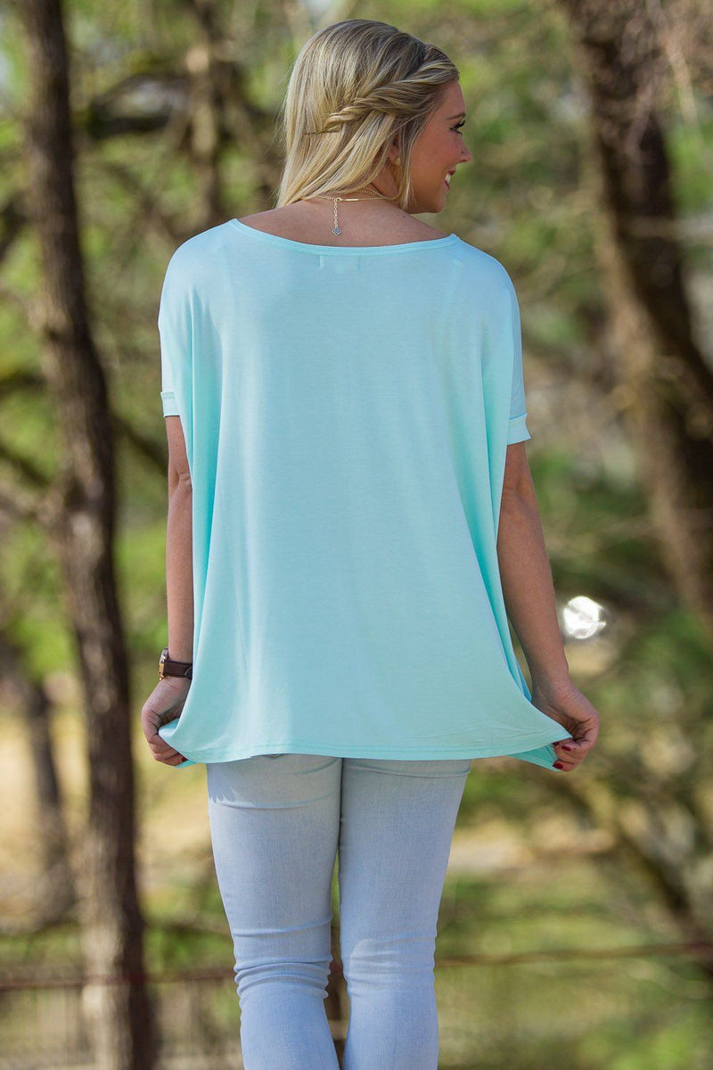Short Sleeve Piko Top - Mint - Piko Clothing