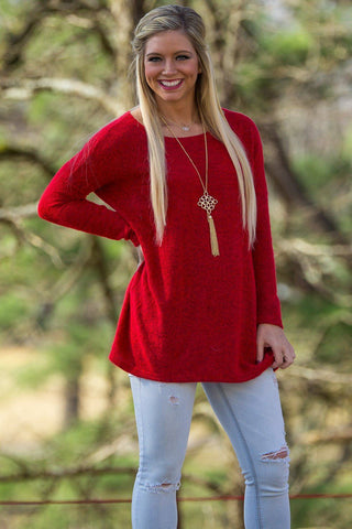 Long Sleeve Piko Sweater - Red - Piko Clothing