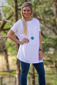 Short Sleeve Piko Tunic - White - Piko Clothing - 1